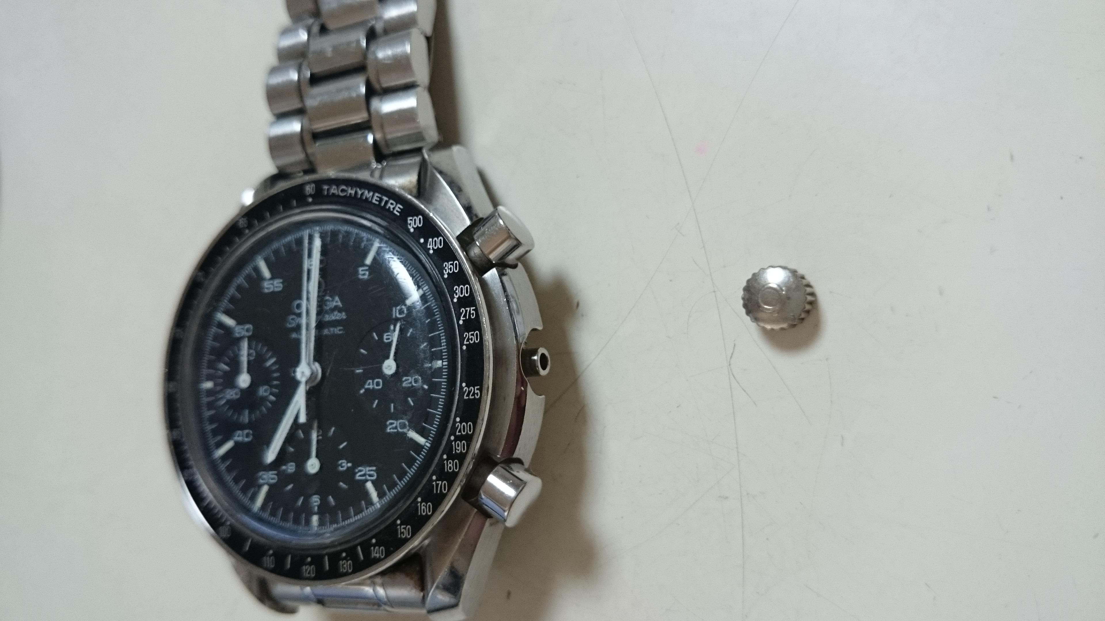hot sale online 51114 2d752 オメガ スピードマスター | リューズ | 時計相談室 -時計の修理 ...