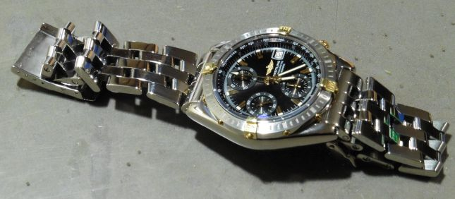 low priced 8ee64 1487b ブライトリング パイロットブレスレット メッキ | 時計相談室 ...